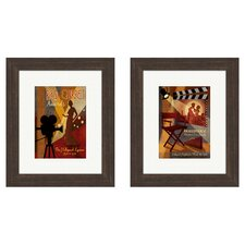 Vintage Red Carpet Awards Framed Art (Set of 2)