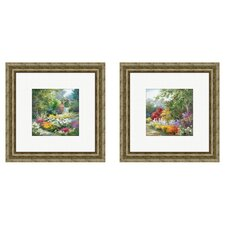 Landscape Path 2 Piece Framed Painting Print Set