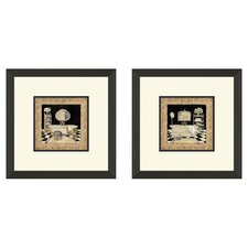Bath Maison 2 Piece Framed Painting Print Set