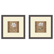 Floral Spring Ahead 2 Piece Framed Graphic Art Set