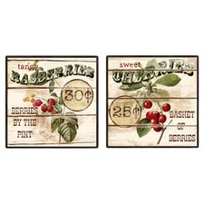 Berries 2 Piece Framed Vintage Advertisement Set