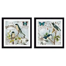 <strong>Pro Tour Memorabilia</strong> Botanical Garden Framed Graphic Art (Set of 2)