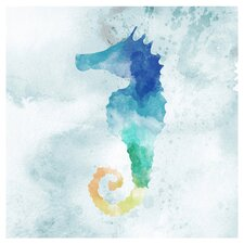 Seahorse Painting Print on Canvas