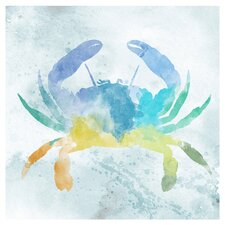 Crab Painting Print on Canvas