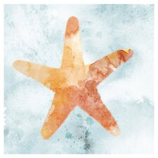 Starfish Painting Print on Canvas