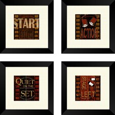 <strong>Pro Tour Memorabilia</strong> Quiet on the set Framed Art (Set of 4)