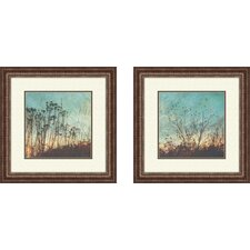 Wild Grass 2 Piece Framed Photographic Print Set