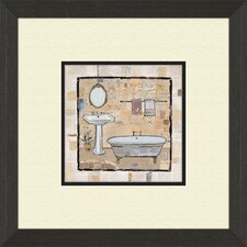 Vintage Bath Time A Framed Art