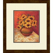 Tuscan Sunflowers B Framed Painting Print