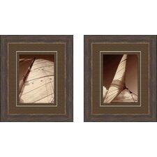 Weekend Sail 2 Piece Framed Photographic Print Set