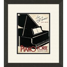 <strong>Pro Tour Memorabilia</strong> Piano and Jazz Club A Framed Art