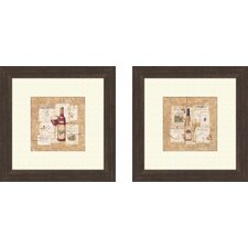 Kitchen Wine Selection 2 Piece Framed Graphic Art Set