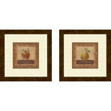 Kitchen Elegant Edibles 2 Piece Framed Graphic Art Set