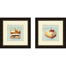 Kitchen Vanilla Cake 2 Piece Framed Vintage Advertisement Set