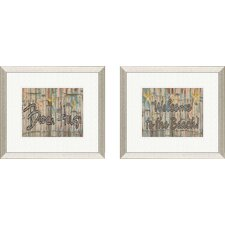 <strong>Pro Tour Memorabilia</strong> Coastal Distressed Beach House Framed Art (Set of 2)