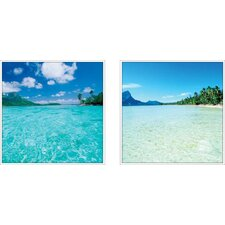 Coastal Clear Waters 2 Piece Framed Photographic Print Set