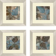 Botanical Perfect Match 4 Piece Framed Graphic Art Set