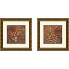 Botanical Evening Forest 2 Piece Framed Painting Print Set