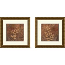 Botanical Evening Forest Framed Art (Set of 2)