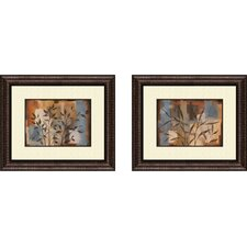 Botanical Abstract Intention 2 Piece Framed Painting Print Set
