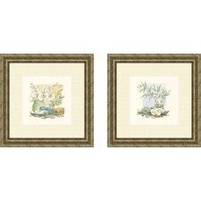 Bath Relaxation Spa Delight 2 Piece Framed Painting Print Set