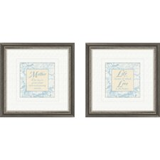 Inspirational Mother 2 Piece Framed Textual Art Set