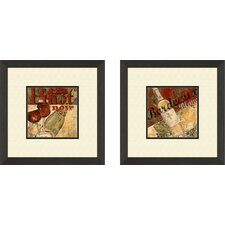 Vintage Pinot Noir Framed Art (Set of 2)