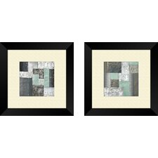 Contemporary Quadrangle 2 Piece Framed Art Set