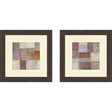 Contemporary Novel Transformation 2 Piece Framed Painting Print Set
