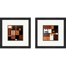 Contemporary Forte 2 Piece Framed Painting Print Set