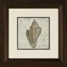 Bath Shells 2 Piece Framed Graphic Art Set