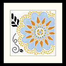<strong>Pro Tour Memorabilia</strong> Cutsey Flower  Framed Wall Art (Set of 2)