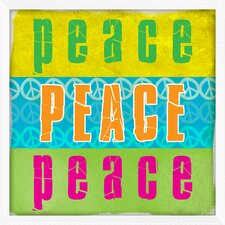 <strong>Pro Tour Memorabilia</strong> Peace and Love Framed Wall Art (Set of 2)
