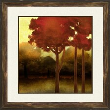 Fluffy Trees 2 Piece Framed Painting Print Set