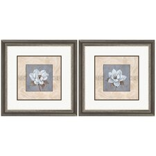 Floral Summerscent 2 Piece Framed Graphic Art Set