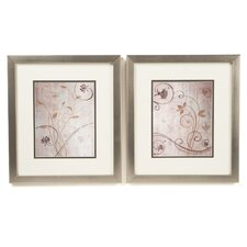 Botanical Spring Meadow 2 Piece Framed Graphic Art Set