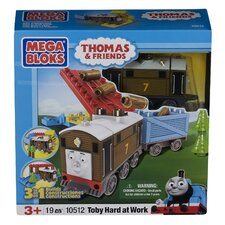 Mega Bloks Thomas 3-in-1 Buildable-Toby Hard at Work