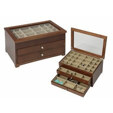Earring Jewelry Box with 49 Compartments