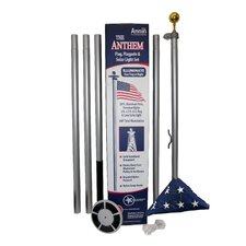 "240"" Flagpole with NylGlo US Flag and Solar Light"