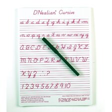 <strong>Ashley Productions Inc</strong> Dnealian Cursive Write-on/wipe-off