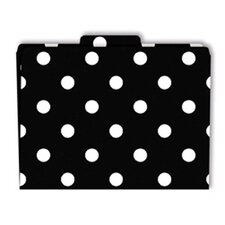 File Folders Black & White Dots