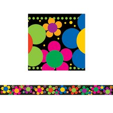 Neon Flower Power Border