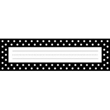 Remember Me Desk Tags Black Dots