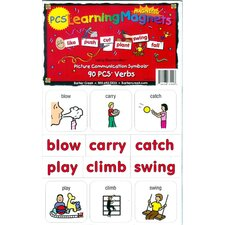 Pcs Learning Magnets Verbs (Set of 90)