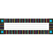 Remember Me Desk Tags Neon Stripes