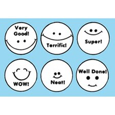 Grading Stamps Smile Faces (Set of 6)