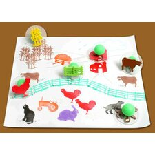 Ready2learn Giant Farm (Set of 10)