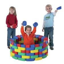 <strong>The Children's Factory</strong> 60 Piece Snap Block Set