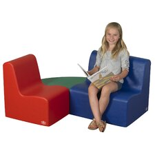 3 Piece Kids School Age Learning Seating Set