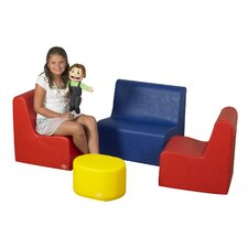 4 Piece Kids School Age Get Together Suite Set